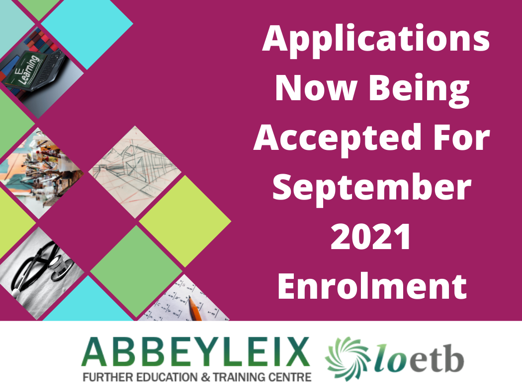 Applications Now being accepted from January 2021