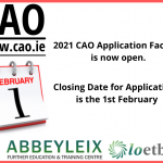 CAO Online Applications Now Open